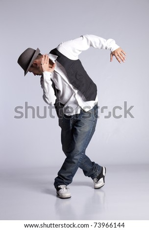 Hip hop dancer showing some movements