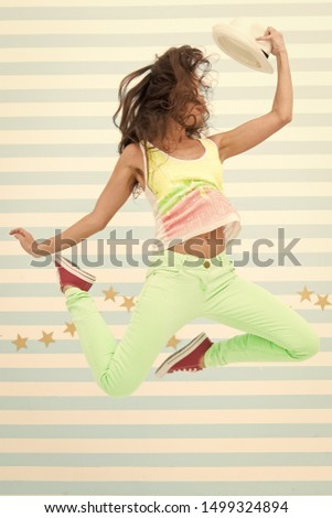 Hip hop woman dancer. Crazy girl in colorful sporty clothes. Happy and stylish sexy woman. Glamour fashion model. Fashion and beauty. Hipster girl. extremely happy. jumping girl. #1499324894