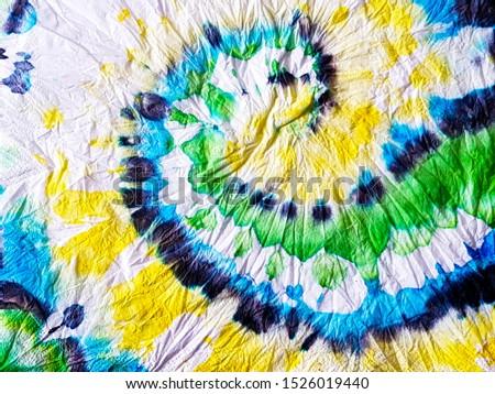 Hippie Swirl. Vibrant Ikat Shape Print. Hippie Color. Vivid Colors. Tie Dye Fade. Bright Colors. Tribal Pattern. Watercolour Hippie Swirl. Vibrant Hippie Color.