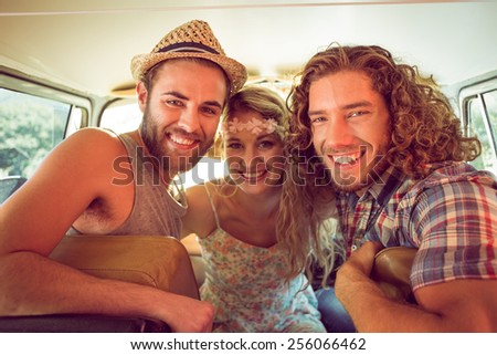 Hipster friends on road trip on a summers day #256066462