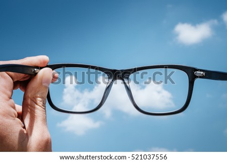 Hipster Hand Hold Glasses to the Sky #521037556