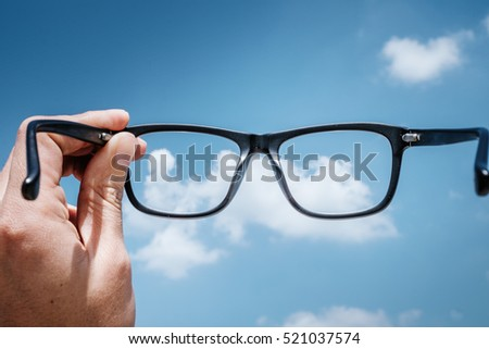 Hipster Hand Hold Glasses to the Sky #521037574