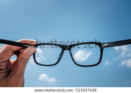 Hipster Hand Hold Glasses to the Sky #521037628