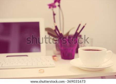 hipster office closeup