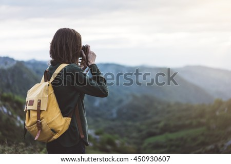 hipster young girl with...