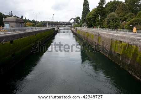 Hiram M. Chittenden Locks are a complex of locks that sit in the middle of Salmon Bay, part of Seattle's Lake Washington Ship Canal.