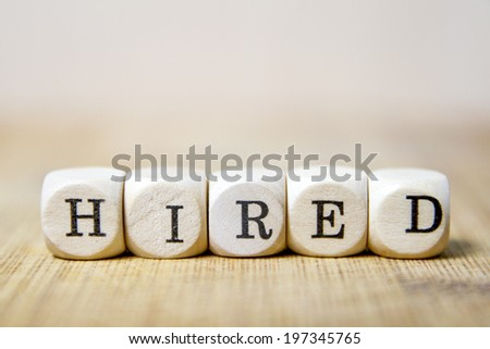 Hired word concept