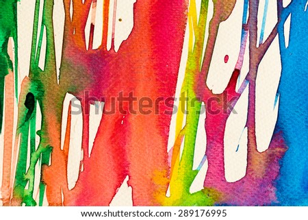 hires close up water color painting on watercolor paper texture using for background #289176995