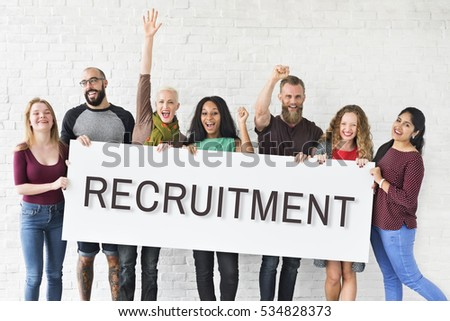 Hiring Career Employment Human Resources Concept #534828373