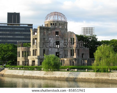 Hiroshima dome next to a river