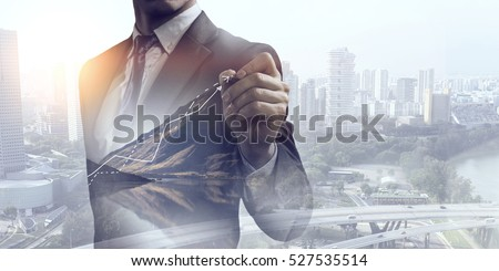 His business growth and progress Foto stock ©