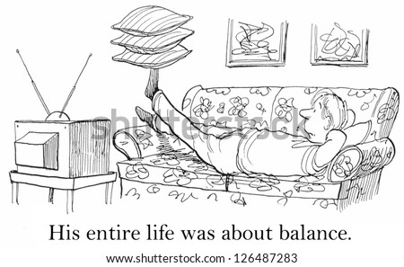 His entire life is about balance --- as he watches tv with three pillows balanced on his foot.