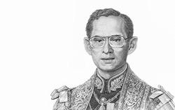 His Majesty King Bhumibol Adulyadej (King Rama IX)  Portrait from Thailand Banknotes.