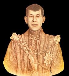 His Majesty King Maha Vajiralongkorn Phra Vajiraklaochaoyuhua King Rama X the Auspicious Occasion of the Coronation of King Rama X B.E. 2562 (2019) Portrait from Thailand 1000 Baht 2020 Banknotes.