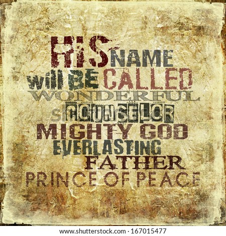 his name will be called ...