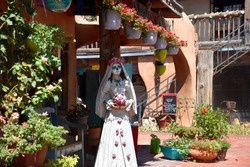Hispanic, Dia de los Muertos, Day of the Dead Doll, Old Town plaza New Mexico.