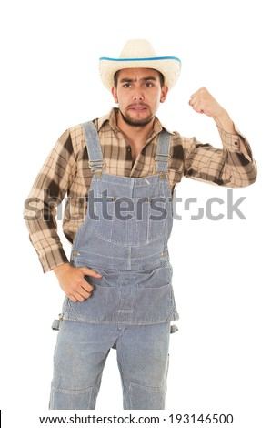 hispanic farmer with a hat on a ...