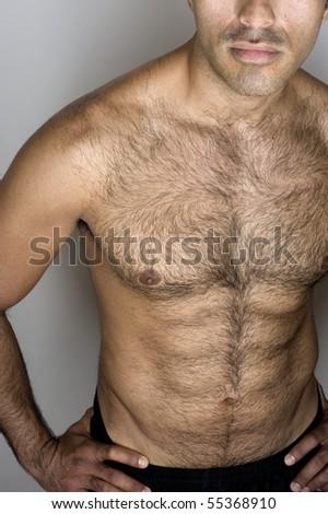 hispanic man's abs