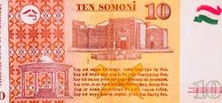 Hissar Castle. Artifacts. National Flag of Tajikistan. Portrait from Tajikistan 10 Somoni 1999 Banknotes