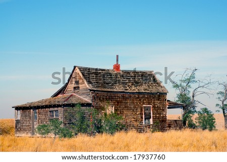 Historic abandoned farmhouse