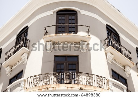 Historic architecture in Old San Juan Puerto Rico. - stock photo