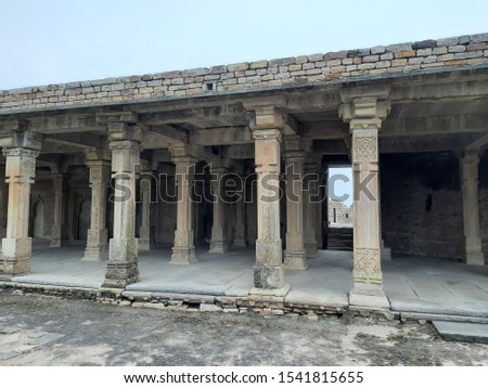 historic architecture of historic city chanderi fort  #1541815655