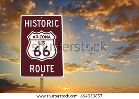 historic arizona route 66 brown ...