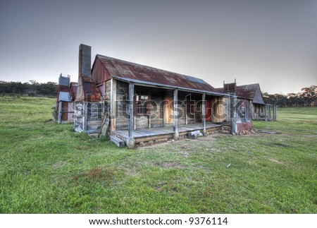 stock photo historic australian homestead 9376114 - Get Images Of Old Australian Farm Houses  Pics
