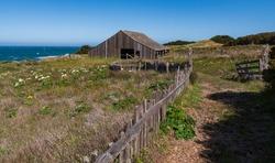 Historic barn at Sea Ranch on the Pacific Coast of California