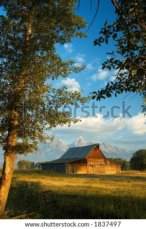 Historic barn on Mornon Row in Grand Teton National Park
