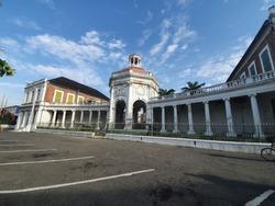 Historic building in Emancipation Square, Spanish Town Jamaica