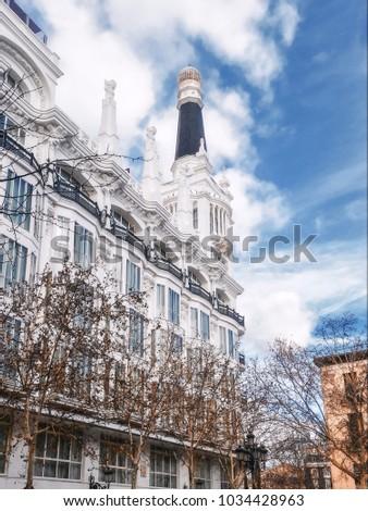 Historic building in Madrid #1034428963