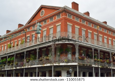 Historic building in the French Quarter of New Orleans