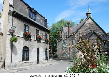 Historic buildings on Rue Donnacona in Quebec City