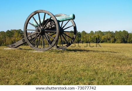 historic cannon on a battlefield