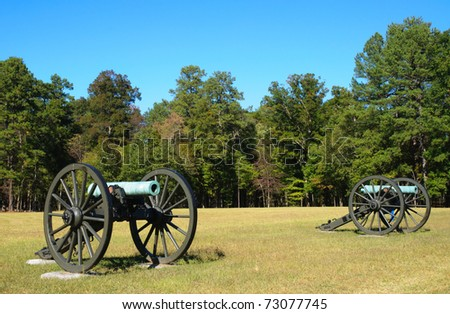 historic cannons on a battlefield