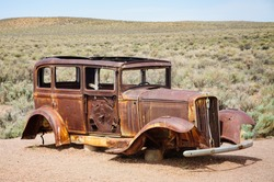 Historic Car at Petrified Forest National Park