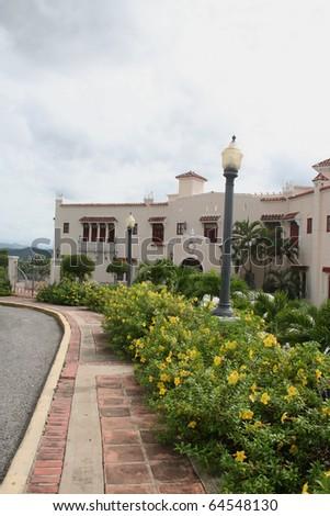 Historic Castillo Serralles at Ponce Puerto Rico USA
