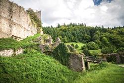 Historic castle ruin Schauenburg in Blackforest Germany