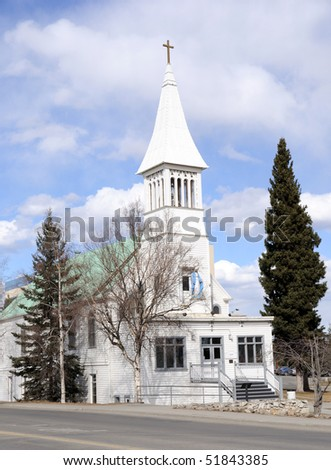 Historic Catholic Church in Fairbanks, Alaska
