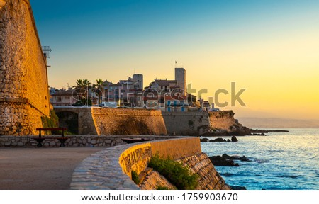 Historic Center of Antibes, French Riviera, Provence, France. Photo stock ©