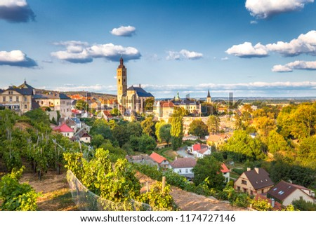 Historic center of Kutna Hora with Church of St James, Czech Republic, Europe. Foto stock ©