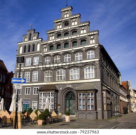 historic chamber of commerce building lueneburg near hamburg germany stock photo 79237963. Black Bedroom Furniture Sets. Home Design Ideas