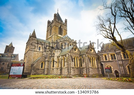 Historic Christ Church in Dublin Ireland #134093786