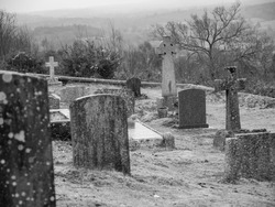 Historic Church graveyard ancient ghostly
