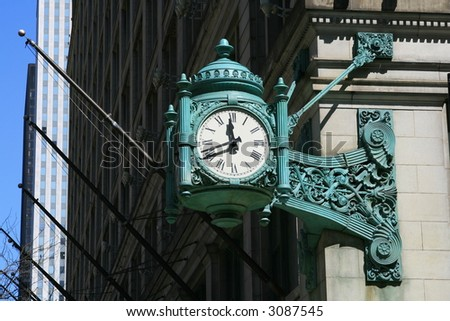 Historic Clock On State Street, Chicago