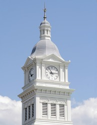 Historic clock tower in Fernandina Beach Florida