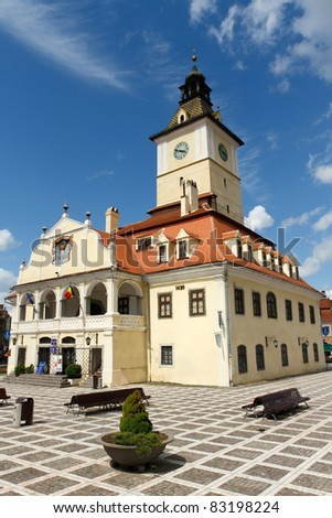 Historic Council House in the Romanian town of Brasov, Transylvania