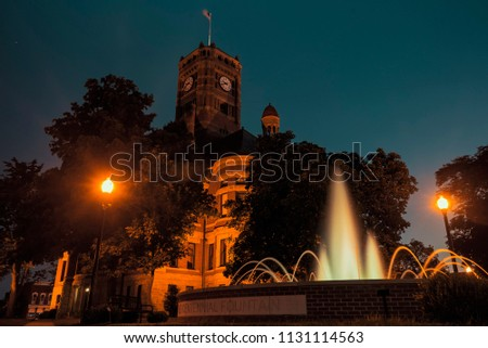 Historic Courthouse and Fountain #1131114563