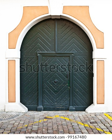 Historic door in Prague, Czech republic